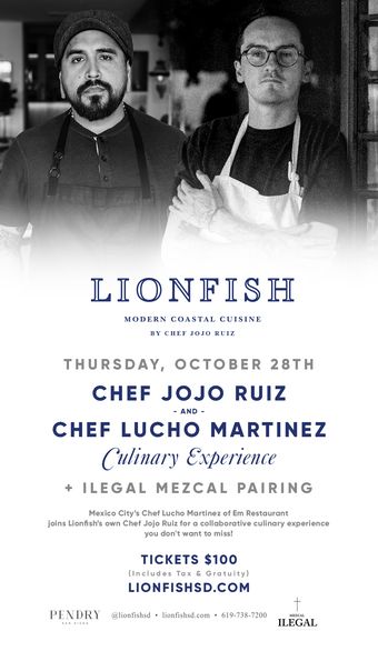 Chef Jojo Ruiz & Chef Lucho Martinez Culinary Experience at Lionfish