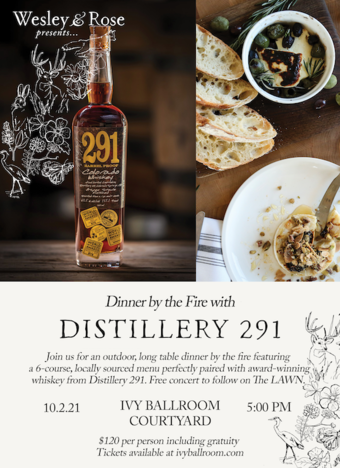 Dinner by the Fire with Distillery 291