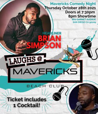 Comedy Night At Mavericks with Brian Simpson