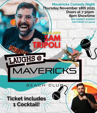 Comedy Night At Mavericks with Sam Tripoli