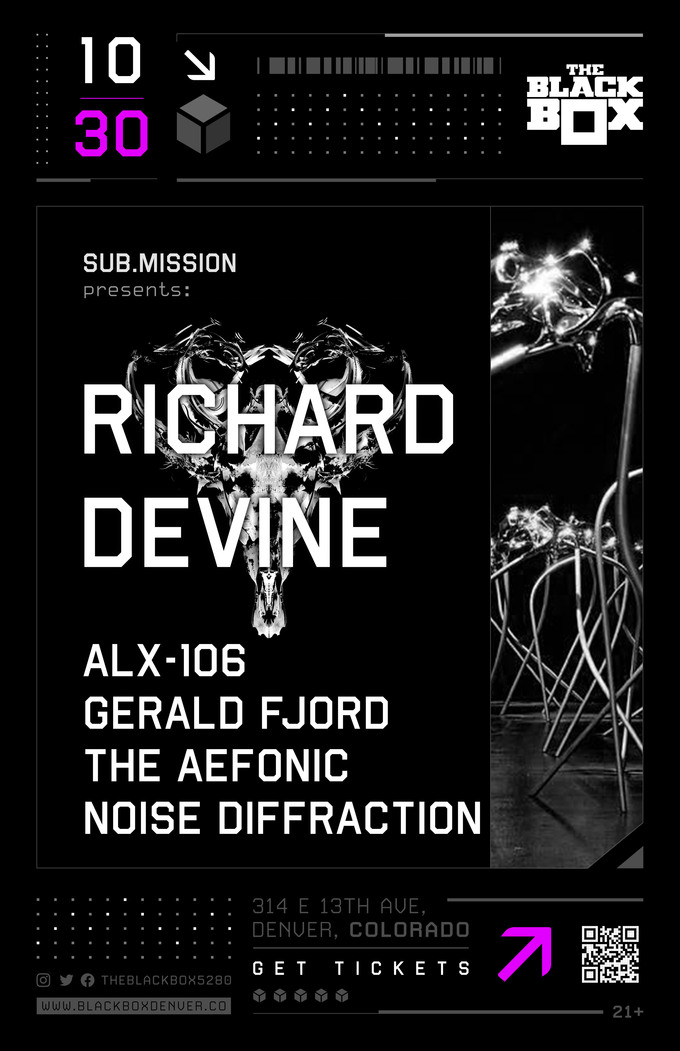 Sub.mission presents: Richard Devine w/ ALX-106, Gerald Fjord, The Aefonic, Noise Diffraction