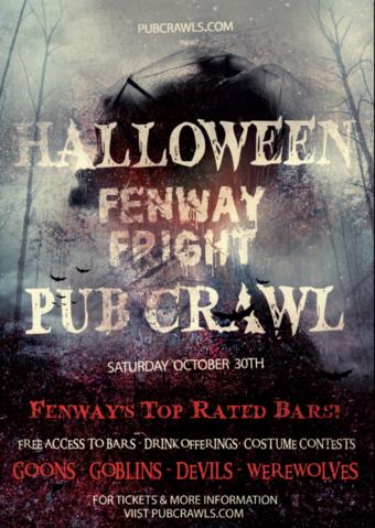 Fenway Fright Night Halloween Pub Crawl 2021
