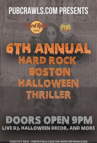 Hard Rock Cafe Boston Halloween Thriller 2021