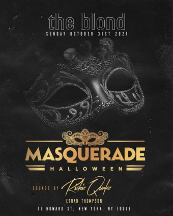 Masquerade Halloween at The Blonde 10/31