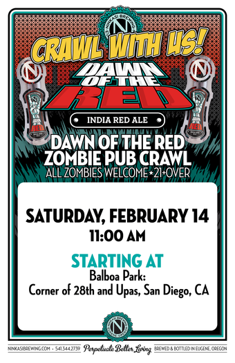 Dawn of the Red: Zombie Pub Crawl San Diego