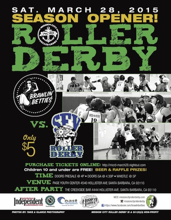 Live Roller Derby! Mission City Brawlin' Betties vs. San Fernando Valley Roller Derby